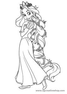 Rapunzel - Raperonzolo - disegno da colorare