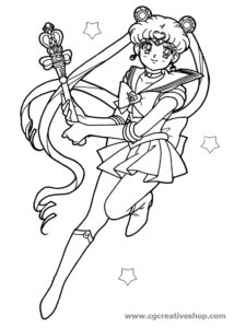 Sailor Moon, disegno da colorare