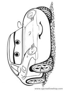 Sally Carrera (Cars Disney), disegno da colorare