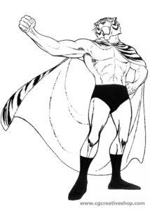 Uomo Tigre I, disegno da colorare
