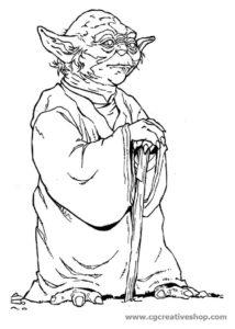 Maestro Yoda - Guerre Stellari - disegno da colorare