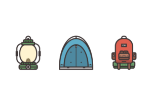 Draw a Camping Icon Pack in Illustrator