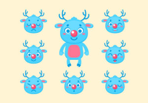 Design a Christmas Deer Kit in Illustrator