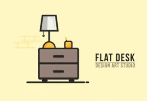 Draw a Vector Flat Desk in Adobe Illustrator