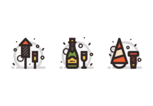 Draw a New Year's Celebration Icon in Illustrator