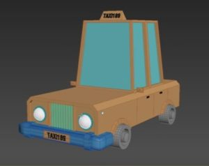 Modelling a Taxi Low Poly in Autodesk 3ds Max