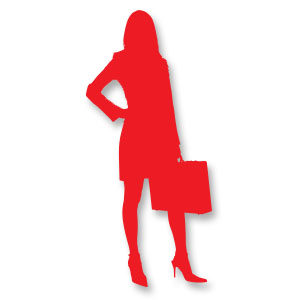 vector businesswoman silhouette free download