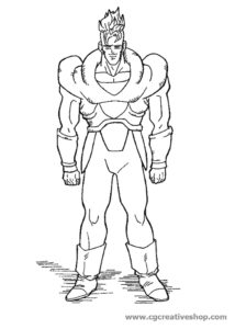 Cyborg C-16 - Dragon Ball - disegno da colorare