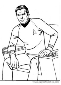 Capitano James T. Kirk di Star Trek, disegno da colorare