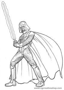 Dart Fener - Star Wars - disegno da colorare