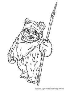 Ewok - Star Wars - disegno da colorare