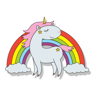 Cute Unicorn Free Vector download