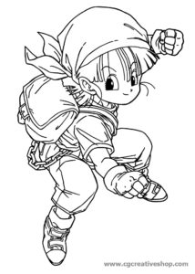 Pan - Dragon Ball - disegno da colorare