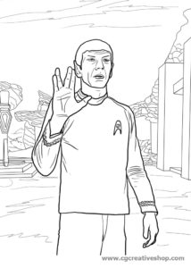 Signor Spock - Star Trek - disegno da colorare