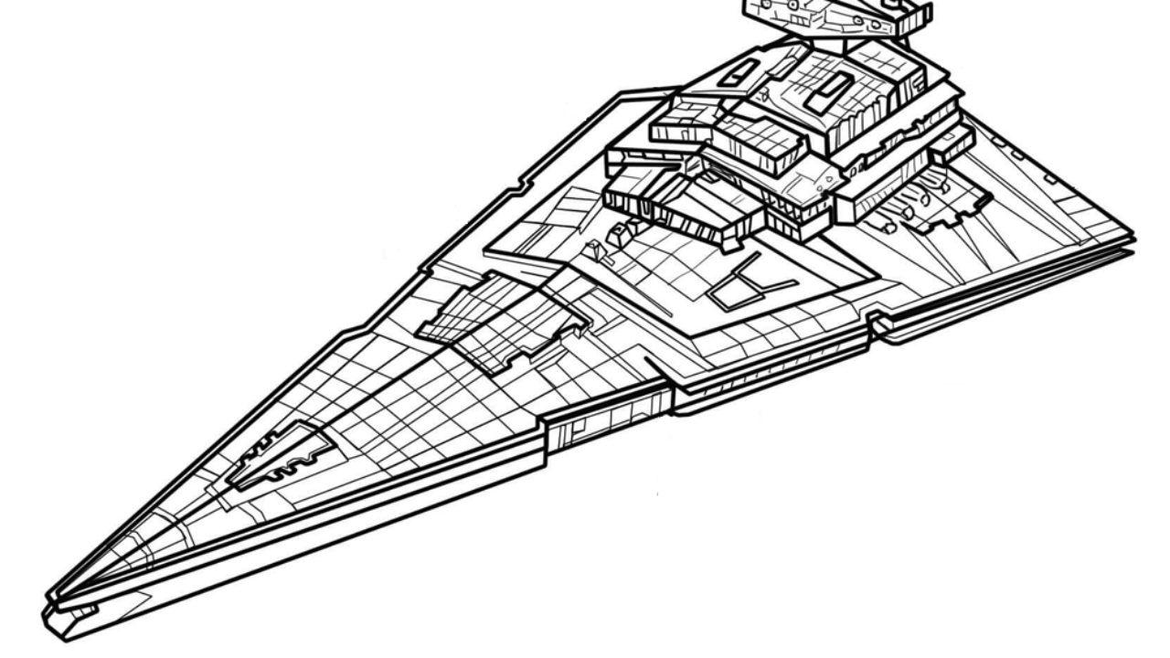Disegni Navi Da Guerra Da Colorare.Star Destroy Star Wars Disegno Da Colorare Cgcreativeshop