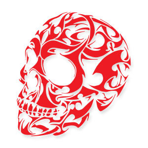 Vector Tribal Skull Free download