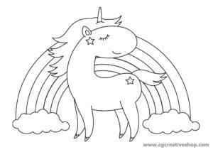 Disegno di un Unicorno per bambini da colorare