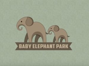 Draw a Baby Elephant Park Logo in Illustrator