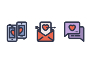 Love Icon in Illustrator