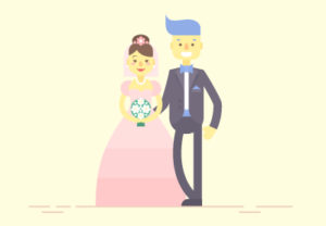 Draw a Flat Bride & Groom Characters in Illustrator