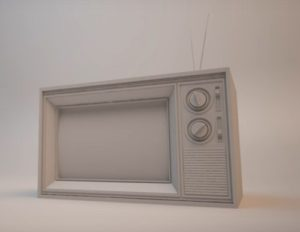 Modelling a Vintage Basic TV in Autodesk 3ds Max