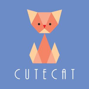 Vector Cute Cat Logo