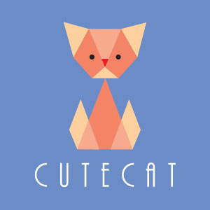 Vector Cute Cat Logo
