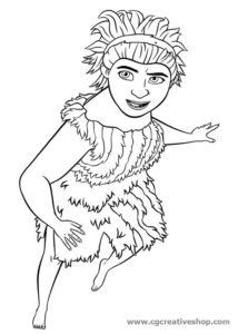 Hugga Croods - The Croods - disegno da colorare