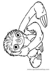 Laccio il Bradipo dei Croods, disegno da colorare