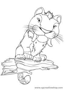 Papparnivoro - The Croods - disegno da colorare