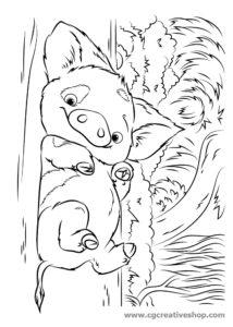 Pua: maialino film Oceania (Disney), disegno da colorare