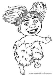 Sandy Croods - The Croods - disegno da colorare