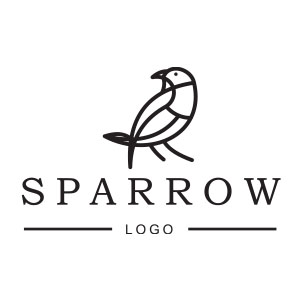 Stylized Vector Sparrow Free download