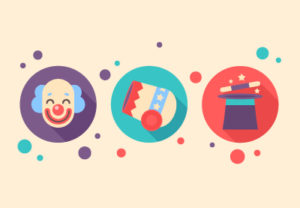 Draw a Vector Set of Circus Icons in Illustrator
