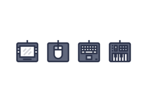 Draw a Computer Peripherals Icon Set in Illustrator