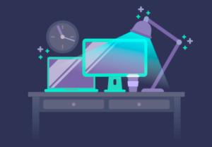 Draw a Vector Night Desktop Illustration in Illustrator