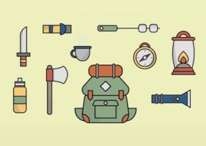 Draw a 10 Camping and Hiking Icons in Illustrator