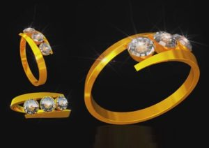Modelling and Texturing a Gold Ring in Cinema 4D