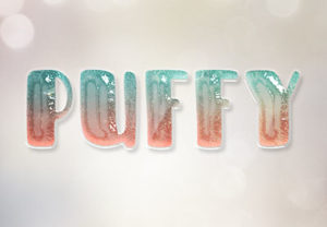 Glossy Puffy Text Effect in Photoshop