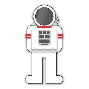 Stylized Astronaut Free Vector download