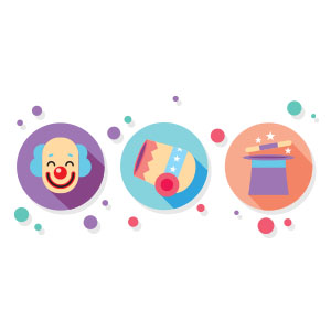 Circus Icons Free Vector download