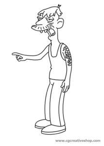 Cletus Spuckler - Simpson - disegno da colorare