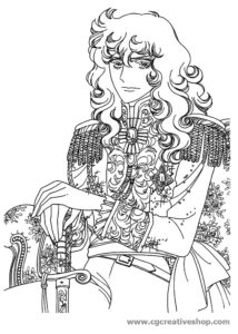 Lady Oscar, disegno da colorare