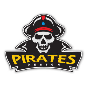 Free Vector Pirate Logo Design
