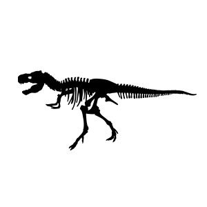 T-Rex Skeleton Free Vector download