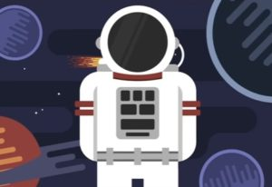 Draw Astronaut Flat Character Design in Illustrator