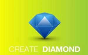Draw a Vector Blue Diamond in Adobe Illustrator