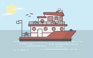 Draw a Boat and Ocean Flat Design in Illustrator