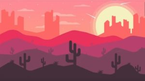 Draw a Desert Landscape Flat Design in Illustrator