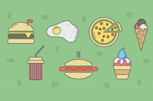 Draw a Food and Restaurant Icons in Illustrator